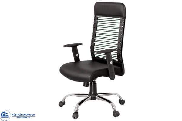 Ghế văn phòng GX06B-M chân mạ, lưng chun