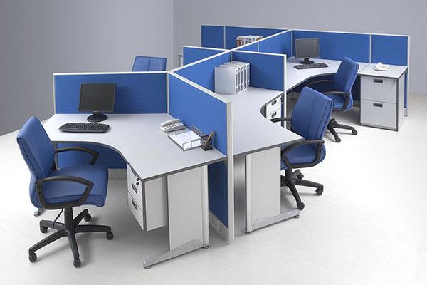Vách ngăn văn phòng giá rẻ bằng nỉ khung nhôm