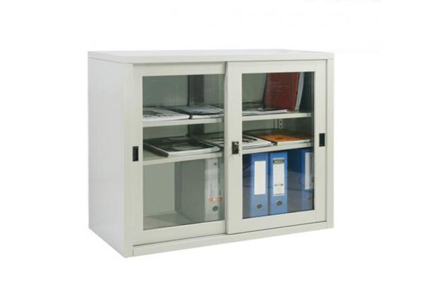 Tủ sắt văn phòng TL01A cánh kính lùa sang trọng