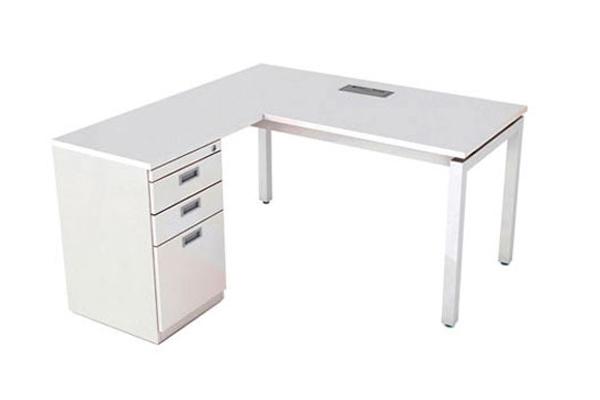 Bàn văn phòng TV1414SL1-L có hộc liền 3 ngăn kéo