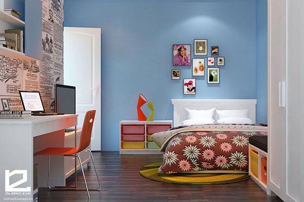 Mẫu thiết kế nội thất phòng ngủ theo phong cách Retro số 1