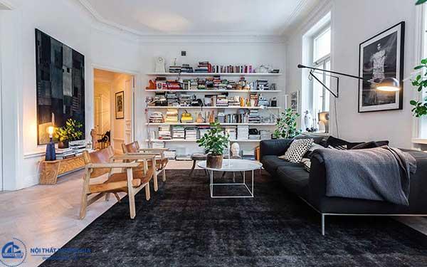 Với kiến trúc Scandinavian, các sản phẩm nội thất luôn nổi bật trên màu sơn trang nhã