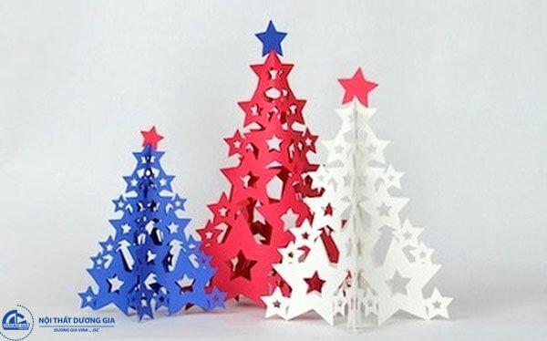 Cách làm cây thông Noel mini bằng giấy cứng