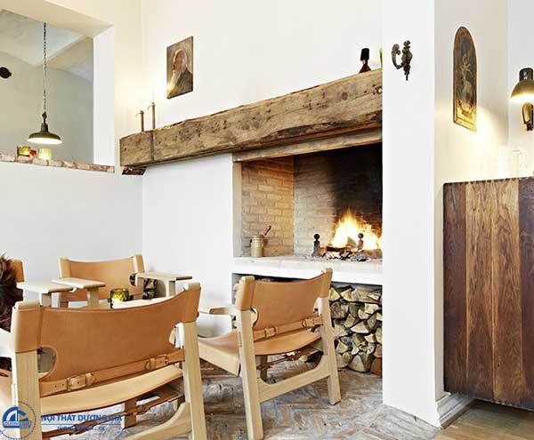 Chất liệu gỗ luôn được ưu tiên cho những căn nhà mang phong cách Scandinavian