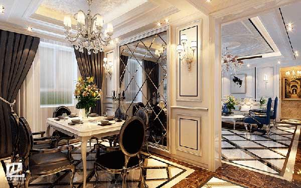 Hoa văn họa tiết trang trí tinh tế trong thiết kế nội thất tân cổ điển neoclassicism