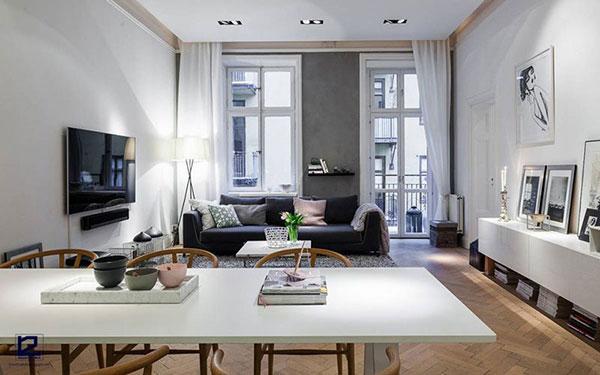Phong cách thiết kế nội thất bán cổ điển