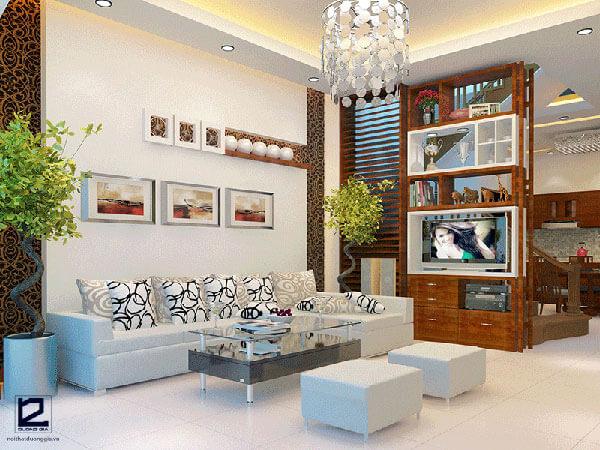 Mẫu nội thất phòng khách hiện đại, sang trọng