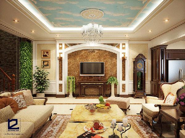 Mẫu nội thất tân cổ điển phòng khách đẹp