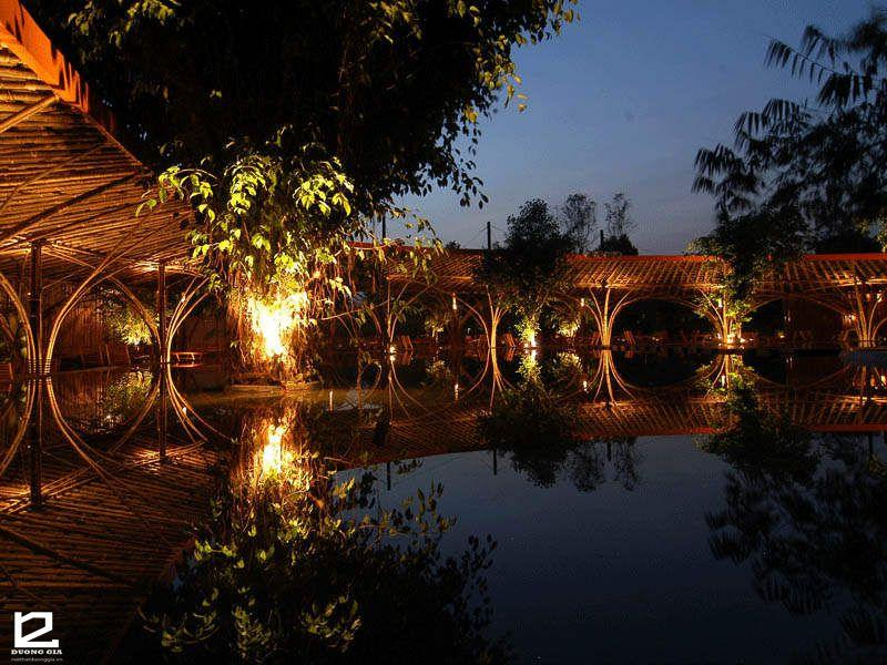 Thiết kế nhà tre Cà phê Gió và Nước là điểm đến tham quan lý tưởng dành cho du khách khắp mọi miền Tổ Quốc