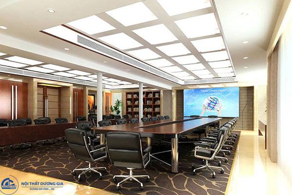 Mẫu thiết kế nội thất hiện đại đẳng cấp cho không gian phòng họp