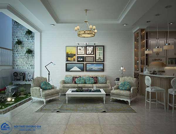 Những món đồ nội thất mang tính hoài cổ nhưng gọn gàng luôn được dùng cho trang trí phòng khách theo phong cách Vintage