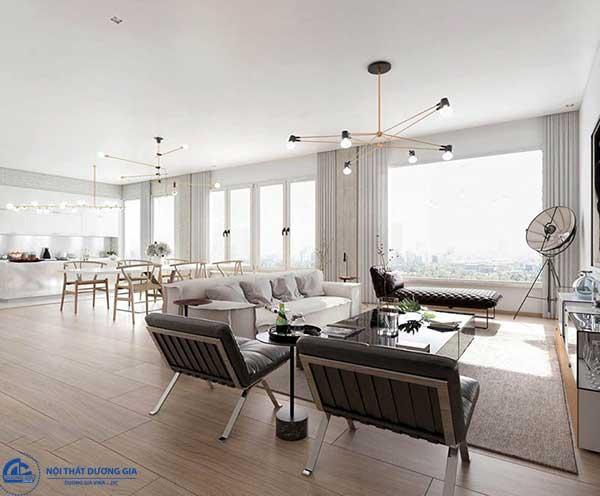 Những vật liệu tạo nên sự sáng bóng cho căn phòng thiết kế theo kiến trúc đương đại