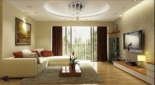 Mẫu nội thất phòng khách hiện đại đẹp