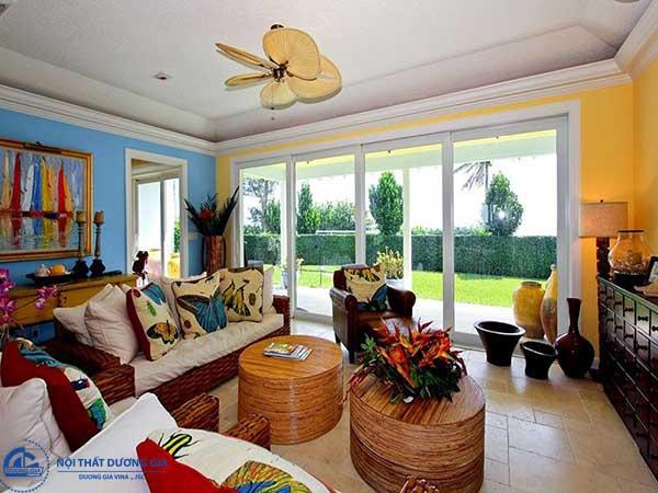 Nội thất trong phong cách thiết kế nội thất tropical