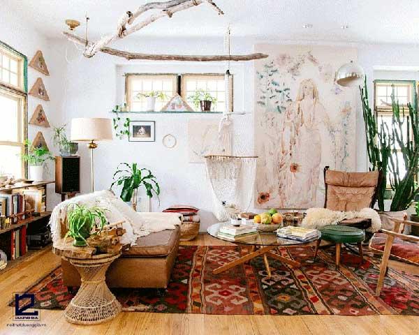 Phong cách thiết kế nội thất Bohemian luôn giữ được vị trí nhất định trong 33 phong cách thiết kế nội thất tiêu biểu