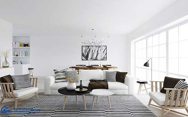 Phong cách nội thất đương đại chú trong tới những đường nét sắc canhj mang tính hình học