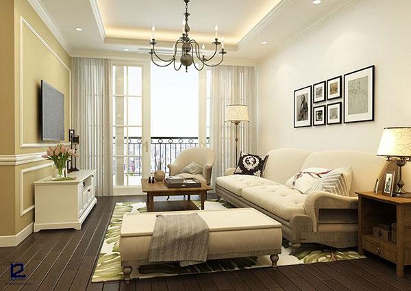 Dù diện tích lớn hay nhỏ thì bạn cũng có thể chọn thiết kế nội thất bán cổ điển cho phòng khách của gia đình mình