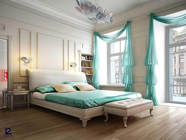 Mẫu phòng ngủ mang phong cách thiết kế nội thất bán cổ điển