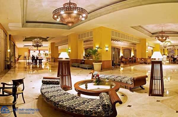 Một trong những mẫu thiết kế nội thất khách sạn sang trọng bậc nhất hiện nay