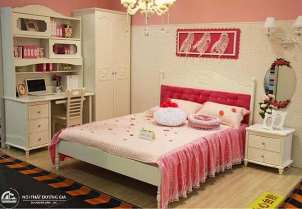 Thiết kế nội thất phòng ngủ Hàn Quốc dành riêng cho các bạn nữ