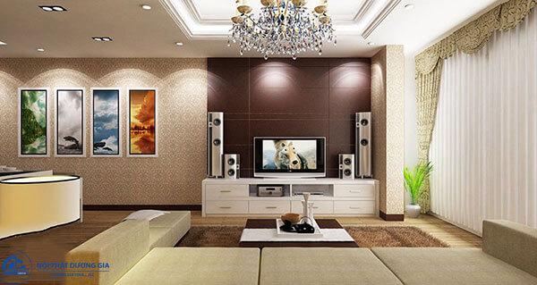Thiết kế phòng khách theo phong cách Hàn Quốc
