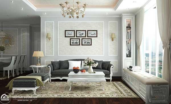 Kiến trúc đương đại thường ưu tiên dùng những gam màu trắng, đen và trung tính