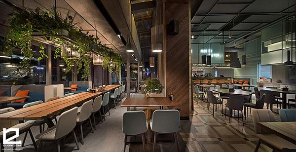 Chọn nội thất cafe hiện đại cần chú ý đến màu sắc