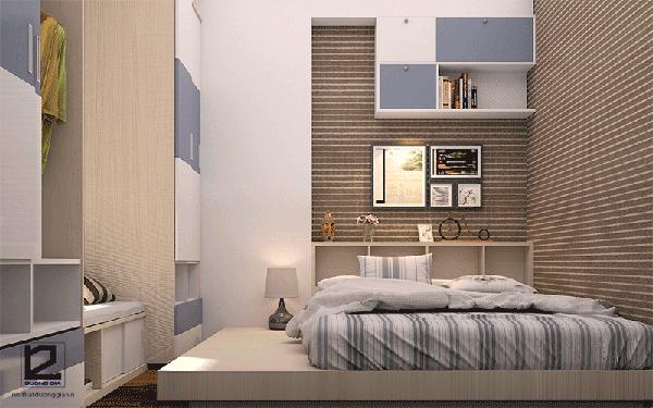 Cách bố trí căn hộ 60m2 cho phòng ngủ của bố mẹ
