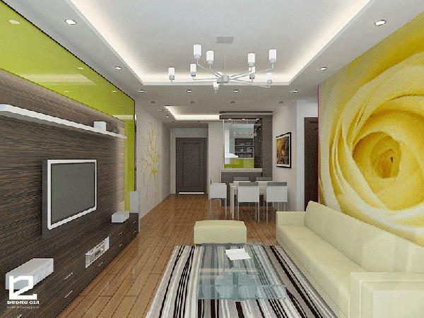 Cách bố trí nhà chung cư 60m2 cho phòng khách