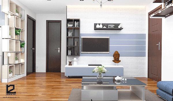 Cách bố trí nhà chung cư 65m2 cho phòng khách
