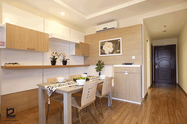 Cách bố trí nhà chung cư 70m2 với phòng bếp riêng biệt