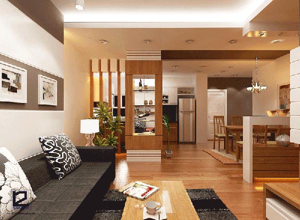Cách bố trí nhà chung cư 70m2 với phòng khách rộng, tiện nghi