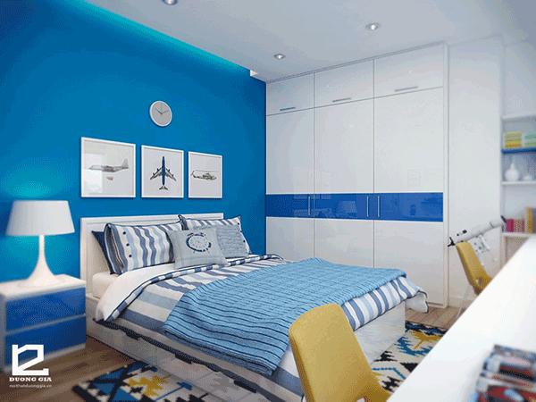 Cách bố trí nhà chung cư 70m2 với phòng ngủ của con khoa học, ấn tượng