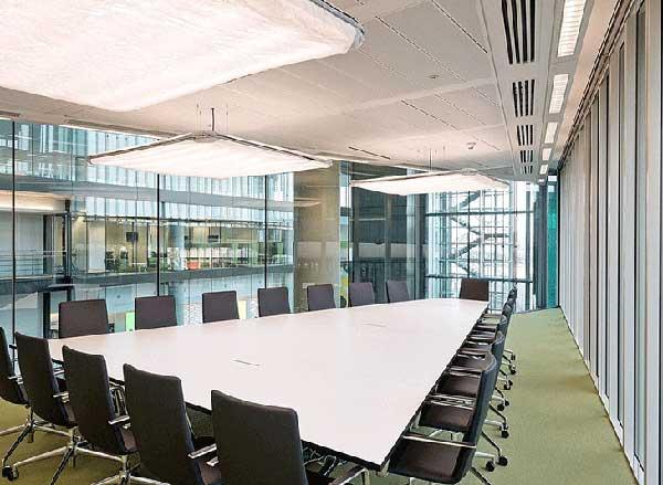 Cách bố trí văn phòng làm việc hiện đại chú ý tới hệ thống ánh sáng