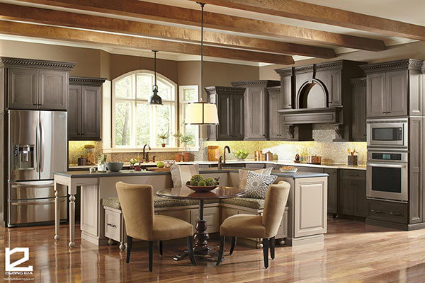 Mẫu phòng bếp và phòng ăn 1