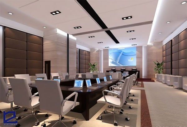Mẫu thiết kế phòng họp trực tuyến đẹp PHTT-DG01