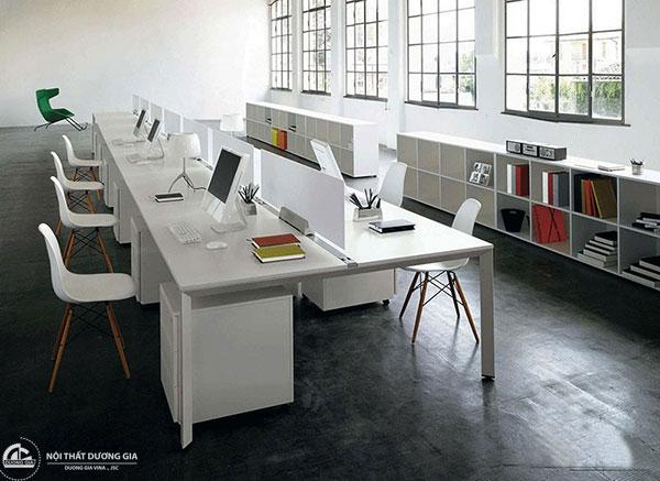 Mô hình văn phòng hiện đại từ những chiếc bàn làm việc