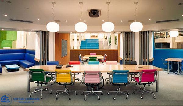 Mô hình văn phòng làm việc hiện đại đôi khi cũng là một bức tranh nghệ thuật độc đáo