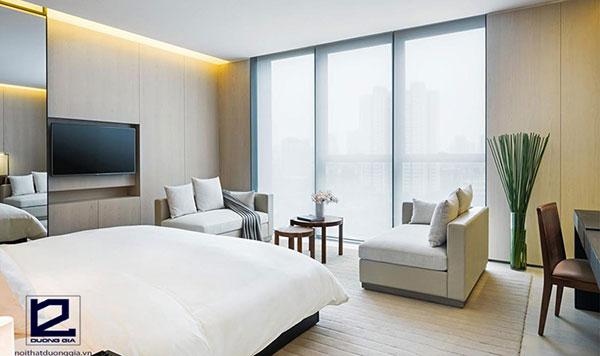 Phong cách thiết kế nội thất khách sạn tối giản