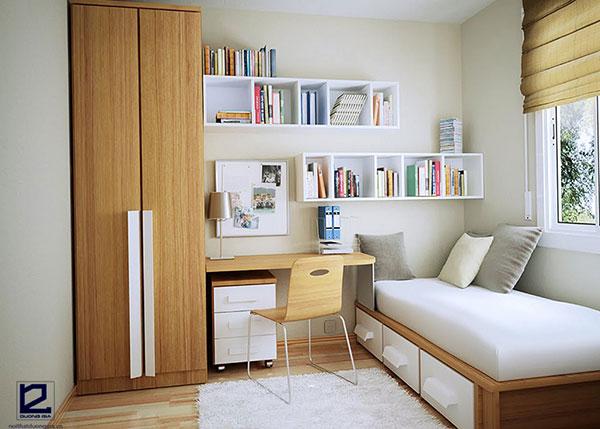 Đừng quên chú ý đến cách sắp xếp, bài trí nội thất phòng ngủ chung cư nhỏ