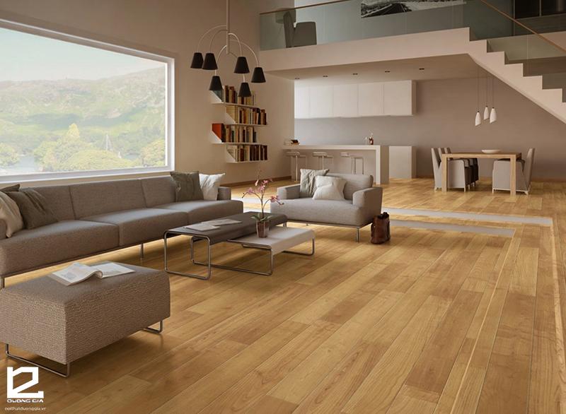 Sàn gỗ sử dụng vật liệu laminate