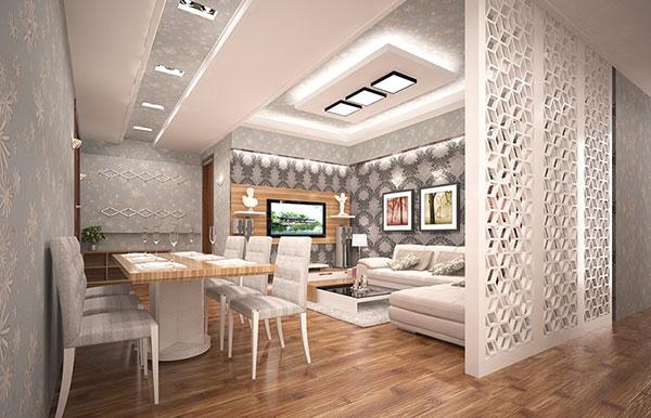 Thiết kế nhà chung cư đẹp 60m2 - Mẫu 1