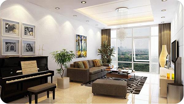 Thiết kế nội thất căn hộ chung cư 70m2 - Mẫu 1