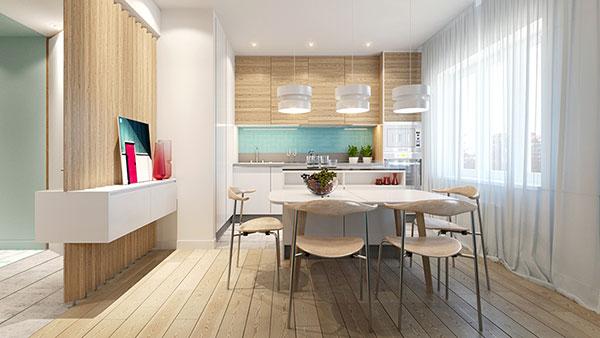 Thiết kế nội thất căn hộ chung cư 65m2 - Mẫu 3