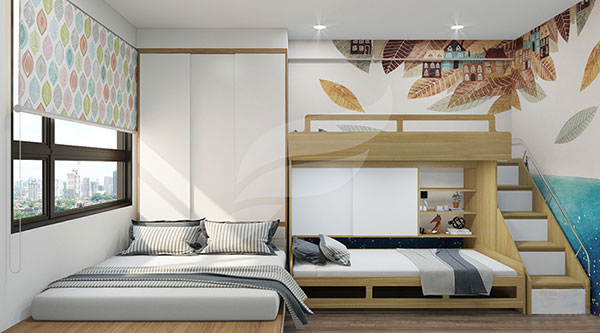 Thiết kế nội thất chung cư 70m2 - Mẫu 3