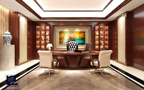 Thiết kế nội thất văn phòng cao cấp góp phần khẳng định đẳng cấp, tiềm lực kinh tế lớn mạnh của công ty,.