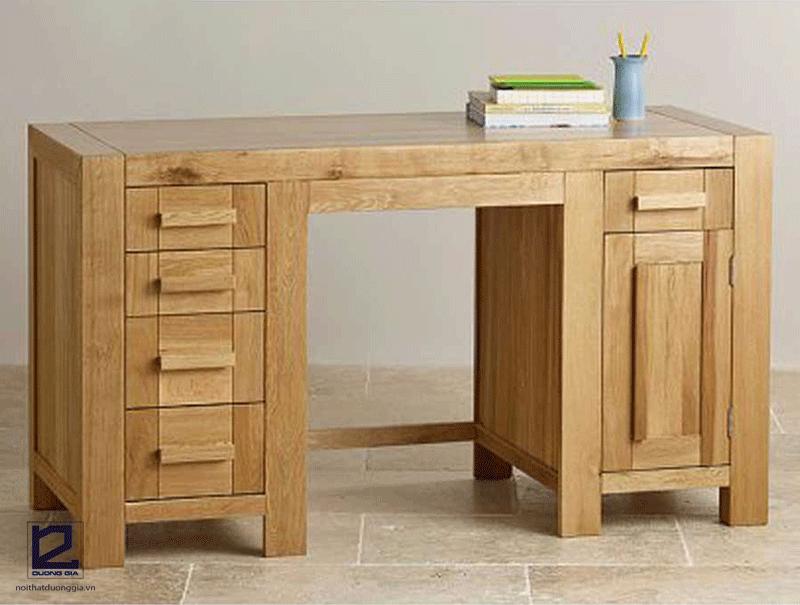 Nguồn gốc, đơn vị cung cấp cũng ảnh hưởng tới giá bàn làm việc gỗ sồi