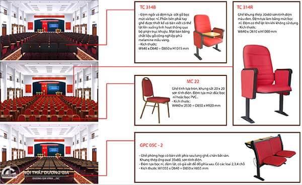 Một số dự án thiết kế hội trường tiêu biểu