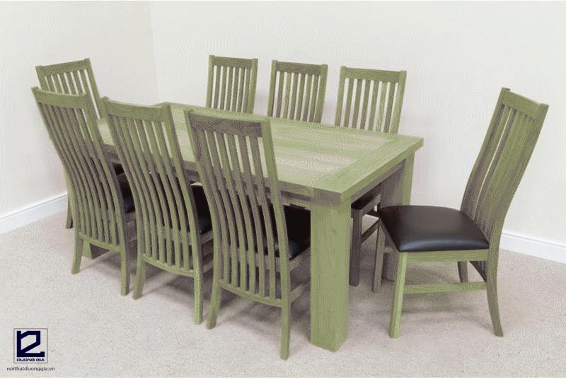 Bộ bàn ăn gỗ sồi Nga 8 ghế