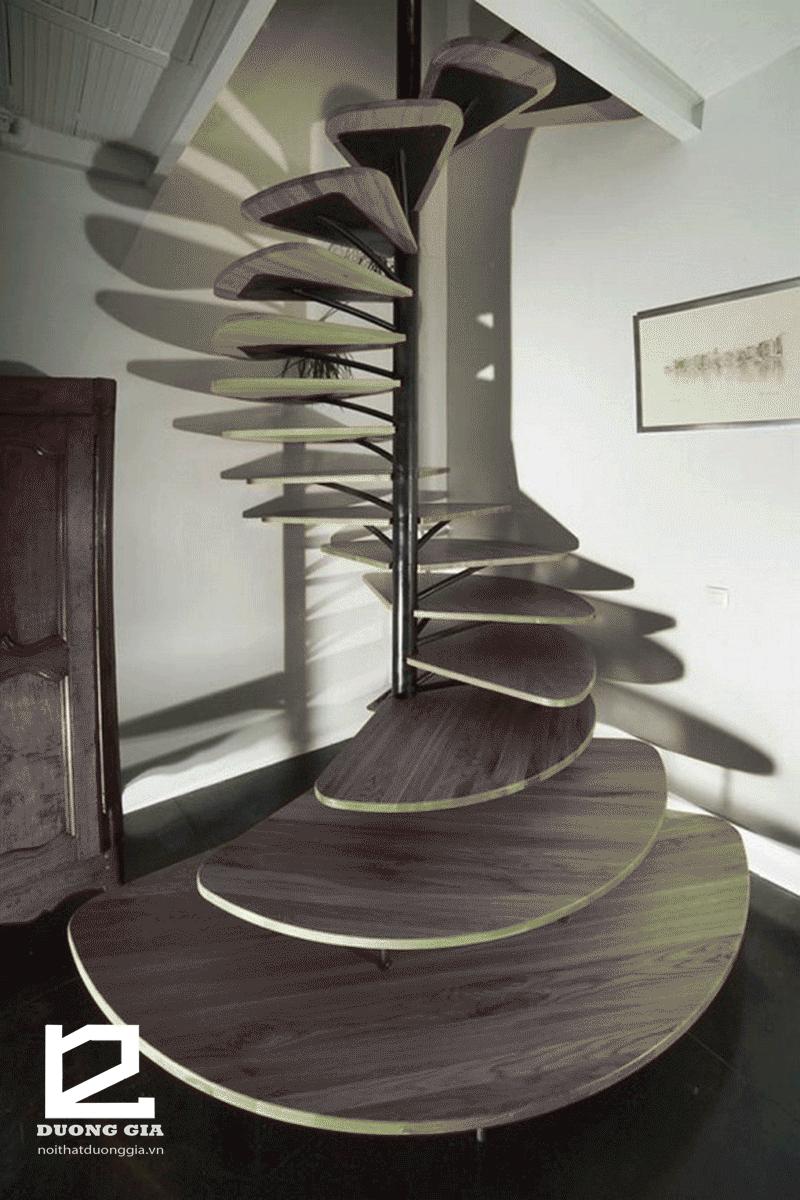 Mẫu cầu thang gỗ đẹp DG-CTK002